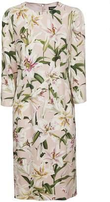 Dolce & Gabbana Flower Print Midi Dress