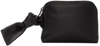 The Row Black Puffy Nappa Wristlet Pouch