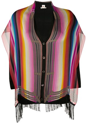 2000 Pre-Owned Striped Silk Cardigan