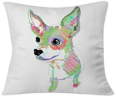 "DENY Designs Casey Rogers Chihuahua Throw Pillow White (20"" x 20"