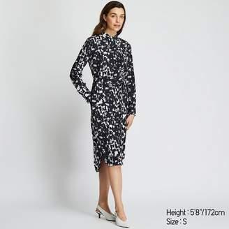 Uniqlo WOMEN Printed Long Sleeve Shirt Dress