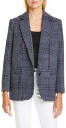 BA&SH Theo Plaid Wool Blend Jacket