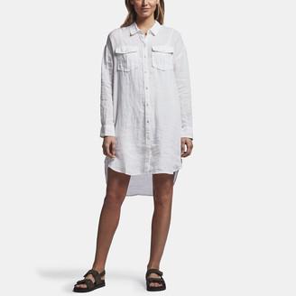 James Perse Linen Military Shirt Dress
