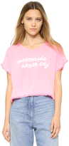 Wildfox Couture Mermaids Neon Boxy Fringe Tee