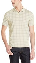 Van Heusen Men's Short-Sleeve Printed Windowpane Polo Shirt