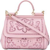 Dolce & Gabbana floral Sicily tote - women - Lamb Skin - One Size