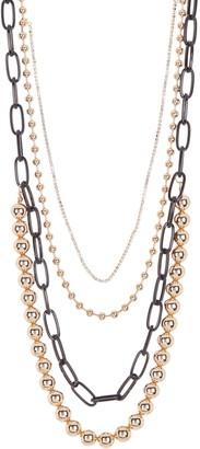 Natasha Accessories Multi Layered Chain Link Necklace