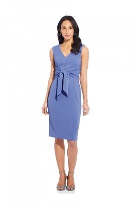 Adrianna Papell Rio Knit Tie Sheath Dress