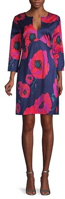 Trina Turk Moody Floral-Print Shift Dress