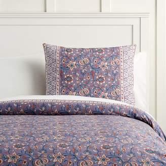 Pottery Barn Teen Paisley Floral Organic Duvet Cover, Twin/Twin XL, Purple Multi