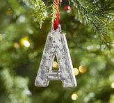 Pottery Barn Silver Mercury Letter Ornaments