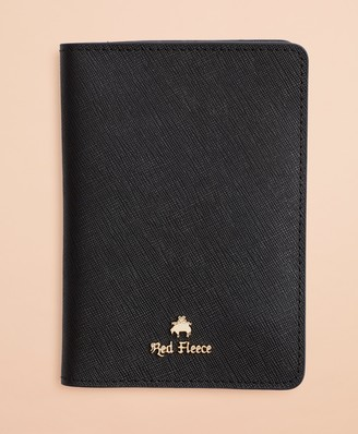 Brooks Brothers Saffiano Leather Passport Wallet