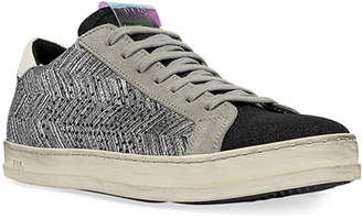 P448 John Chevron Lace-Up Sneakers