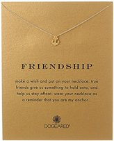 Dogeared Jewels and Gifts Friendship Gold-Dipped Sterling Silver Anchor Pendant Necklace, 18""