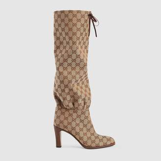 Gucci GG canvas mid-heel boot