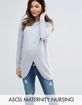 ASOS Maternity - Nursing ASOS Maternity NURSING Wrap Over Sweater in Textured Stripe