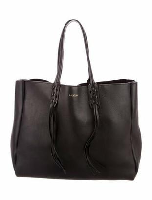 Lanvin Leather Tassel Tote Black