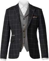 Gibson Charcoal With Light Grey Check Jacket