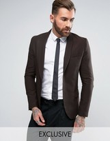 ONLY & SONS Skinny Shawl Suit Jacket In Tonic