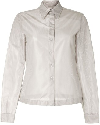 Chanel Pre Owned 1999 Metallic Effect Slim-Fit Shirt