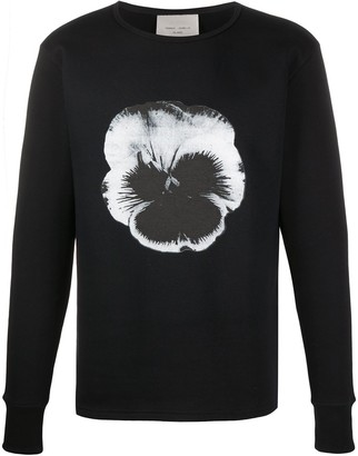 Frankie Morello Crew Neck Flower Print Sweater