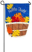 "Evergreen Hello Fall"" Leaves Indoor / Outdoor Garden Flag"