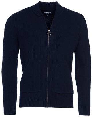 Barbour Tartan Gillespie Wool Zip-Through Sweater