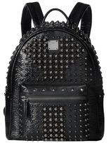 MCM Stark Pearl Studs Small Backpack