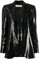 Blanca Vita sequined open-front blazer