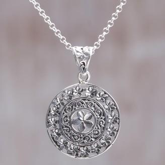 Novica Handcrafted Sterling Silver 'Sacred Petals' Necklace