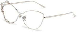 Whatever Eyewear 'Laurel' detachable vine rim metal cat eye optical glasses