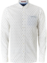 Scotch & Soda Long Sleeve Fixed Pochet Shirt, White