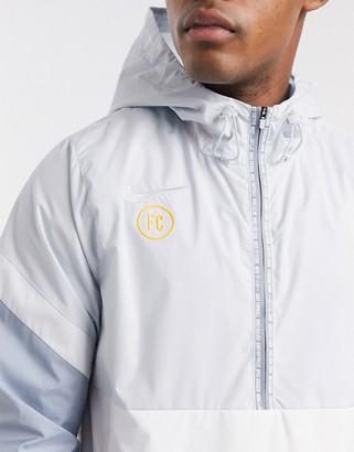 Nike Football zip thru jacket in grey