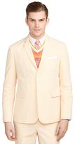 Brooks Brothers Orange Seersucker Classic Sport Coat