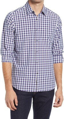MOVE Performance Apparel Regular Fit Check Button-Up Performance Shirt