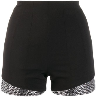 Philipp Plein Crystal Embellished Shorts