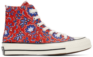 Converse Red Paisley Chuck 70 High Sneakers