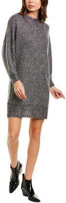 Frame Sequin Wool & Alpaca-Blend Sweaterdress