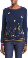 Loro Piana Flower Meadow Embroidered Cashmere Sweater