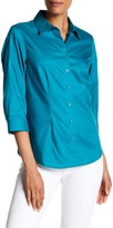 Foxcroft 3/4 Length Sleeve Perfect Shirt
