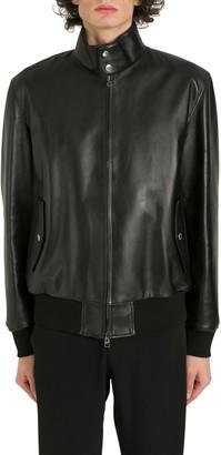 Alexander McQueen Bomber Jacket With Logo At Inner Collar