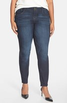 Nordstrom Plus Size Women's Wit & Wisdom 'Super Smooth' Stretch Skinny Jeans