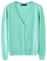 LOVEBEAUTY Women's Long Sleeve V Neck Basic Knit Cardigan Sweater S