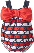 Mud Pie Baby-Girls Newborn Whale Bow Bubble Swimsuit