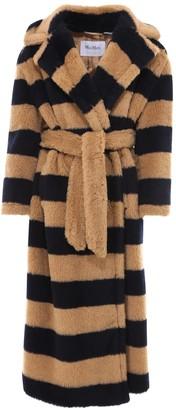 Max Mara Teddy Striped Belted Coat