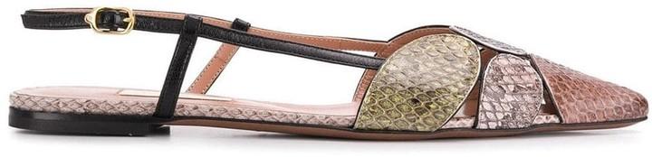L'Autre Chose pointed flat ballerina shoes
