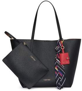 Calvin Klein Rachel Faux-Leather Tote With Pouch
