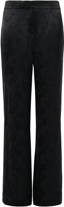 Theory Split-side Satin-jacquard Wide-leg Pants