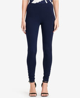 Lauren Ralph Lauren Petite Lace-Up Ponte Leggings