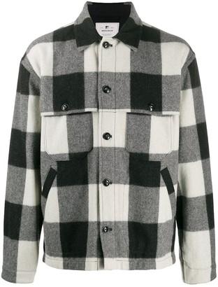 Woolrich check button-down shirt jacket